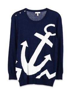 """SF- Love anchors but not THIS big! Too much """" in your face"""" nautical and would practically point to my tummy! Pretty Outfits, Fall Outfits, Cute Outfits, Fashion Outfits, Womens Fashion, Fashion Clothes, Summer Outfits, Casual Outfits, Nautical Outfits"""