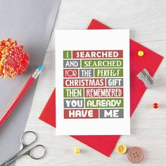 Funny Christmas Card For Wife Christmas Gift For Husband, Funny Dad Christmas Card For Mum, Girlfriend Xmas Card Boyfriend Card, Christmas presents – unusual Xmas ideas Out of all issues that we've presently discovered under Christmas Presents For Mum, Funny Christmas Gifts, Christmas Ecards, Merry Christmas, Diy Christmas Cards For Boyfriend, Christmas Card Messages Funny, Funny Christmas Quotes, Funny Xmas Cards, Presents For Wife