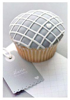 Pretty Pale Blue Love Cupcake Photo