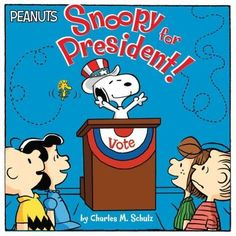 Vote for Snoopy in this 8x8 storybook just in time for the 2016 Presidential election season! Pigpen and Linus are running against each other for class president, and they each decide to get their pho