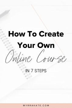 How To Create A Online Course – business ideas entrepreneur Make Money Blogging, Make Money Online, How To Make Money, Saving Money, Saving Tips, Affiliate Marketing, Online Marketing, Business Marketing, Inspiration Entrepreneur