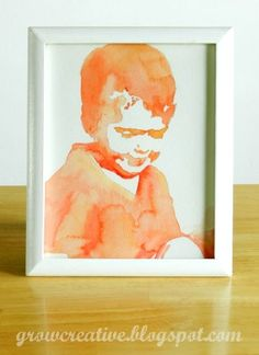 watercolor portraits; this could be fun to have the outline ready and have boys fill in on their own