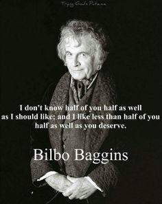 Classic Bilbo line! ;)