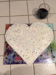 Nothing like a funfetti heart cake
