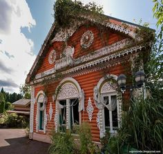Abandoned Russian Village theme park In Niigata, Japan. Replica of wooden Russian cottage.