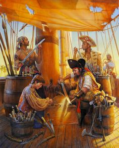 """Pirates:  #Pirates ~ """"Never a Dull Moment,"""" by Don Maitz."""