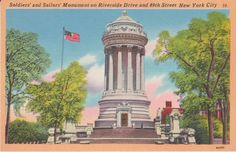 New York City New York Soldiers' and by postcardsofthepast on Etsy