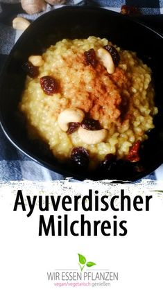 Milchreis mit Kurkuma [vegan] Rice pudding for breakfast is always delicious. And above all healthy. But rice pudding with turmeric is something else. Because the turmeric root has it all and offers many health benefits. Health Breakfast, Vegan Breakfast Recipes, Brunch Recipes, Diet Recipes, Vegan Recipes, Breakfast Healthy, Vegan Food, Vegan Milk, Vegan Rice Pudding