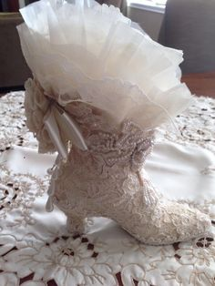 Altered Ceramic Victorian Boot