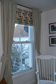 Spotted Roman Blind - fabric from www.kidsfabric.co.uk