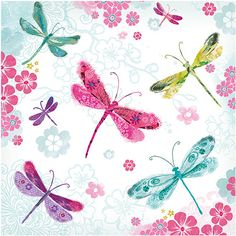 """CODE: WS504 PRICE: £1.75 NAME: DRAGONFLIES Buy now: https://www.phoenix-trading.co.uk/web/km43704/area/shop-online/category/butterflies/product/WS504/dragonflies-new/ Presentation: With a white 100 gsm, 100% recycled, envelope. Blank for your own message Paper Type: Matt Textured Flittered Artist: Claudine Rose Size: 5 x 5"""" 