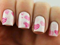#pink#hearts#nail
