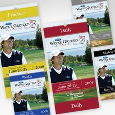 Tickets and print material for the Wayne Gretzky/Ford Golf Classic produced for Blake Sports Group by Galvanek & Wahl Advertising agency