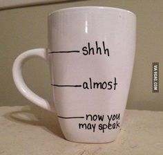 IDK, I may have to have 2 cups before the speaking part starts.