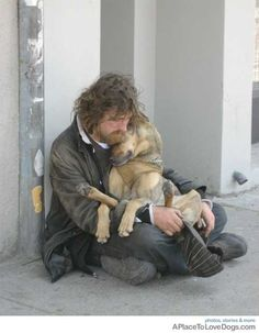 Because dogs only want to love and be loved, they never judge what you have only what is in your soul.