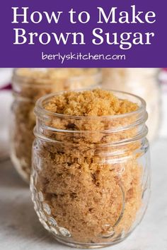 Brown Sugar Homemade, Make Brown Sugar, Brown Sugar Syrup, How To Make Brown, Maple Syrup, Make Powdered Sugar, Baking Recipes, Dessert Recipes, Baking Hacks