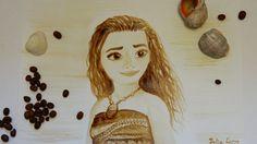 Кофе-скетч Моана / Coffee-sketch Moana