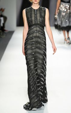 Onyx Embroidered Eyelash Gown by Bibhu Mohapatra for Preorder on Moda Operandi