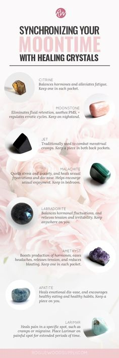 Healing crystals to help you through your moontime | Rogue Wood Supply