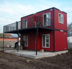 Perfekt Kleines Häuschen, Lagerhallen, Haus Mit Garage, Schiffscontainer Haus,  Container Wohnen, Wohncontainer