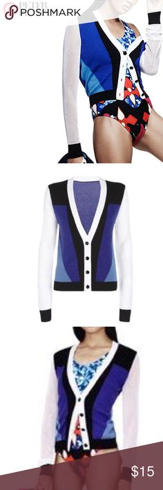 Peter Pilotto Small Cardigan Small Blue Cardigan. Very Cute and Comfortable! Worn a few times but still in brand new shape Peter Pilotto for Target Jackets & Coats