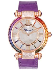 Chopard Imperiale watch in rose gold, pearl, sapphire, diamonds