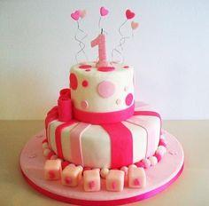 tortas cumpleaños 1 año nena niña - Buscar con Google Cute Birthday Cakes, Birthday Parties, Baking Tips, Baking Recipes, Bday Girl, Creative Cakes, First Birthdays, Cake Decorating, Food And Drink