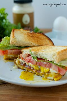 B.E.L.T. with Cheese: Bacon, egg, lettuce, tomato, cheese sandwich, easy to make, and so satisfying - Eazy Peazy Mealz