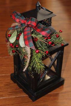 Idea - Replace fuchsia hanging planters for holiday season. Several lantern options available at Craft Warehouse. Christmas Lanterns, Noel Christmas, Country Christmas, Winter Christmas, Christmas Wreaths, Christmas Wedding, Porch Lanterns, Rustic Lanterns, White Lanterns