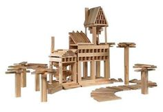 Developed in France and exhibited at the Louvre, these blocks teach concentration, patience, and building skills; $60 for the Kapla 200 Blocks Set at Amazon. The 1,000-piece Kapla Blocks Set comes in a wooden storage box on casters; $299 at Amazon., Kapla Planks, Louvre