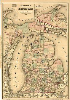 michigan railroad map