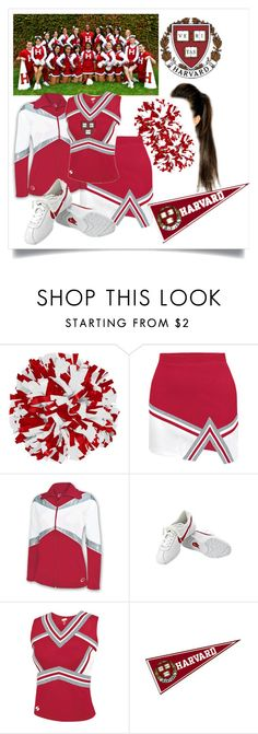 """""""Eleanor is a flagship of the equipment of cheerleading of Harvard"""" by medicicapetiens on Polyvore featuring moda, Chassè y NIKE Harvard University, Cheerleading, Alternative, Nike, Polyvore, Outfits, Cheer"""