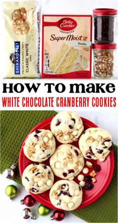 How to Make Cookies From Cake Mix Boxes! This incredibly sweet, soft, crunchy, and decadent dessert is the perfect addition to any menu. Give them a try this week! Chocolate Walnut Cookies Recipe, Pecan Fudge Recipe, Walnut Cookie Recipes, White Chocolate Cranberry Cookies, Delicious Cookie Recipes, Pecan Recipes, Fudge Recipes, Chocolate Flavors, Easy Recipes