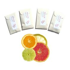 4 Crystal Clear Citrus scented sachets handmade fresh by pebblecreekcandles, $12.00 #citrus #sachets #home #fragrance