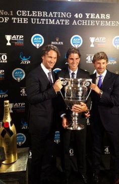 Carlos Moyá, Rafa Nadal y Juan Carlos Ferrero