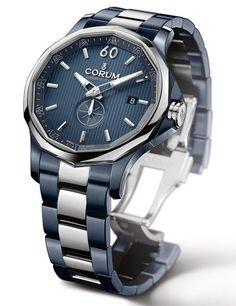 Corum Admiral Cup Legend 42 Gunmetal Blue #luxurywatch #Corum-swiss Corum Swiss Watchmakers watches #horlogerie @calibrelondon