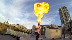 Amazing Man Fire Breathing [Cool Video]