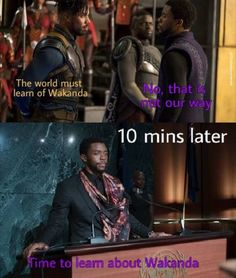 T'Challa is really inspired by Erick's speech