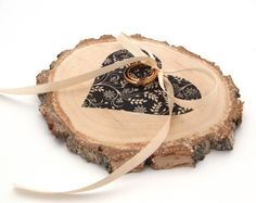 wood ring bearer pillow by kat deco | etsy boho weddings | http://emmalinebride.com/bohemian/etsy-boho-weddings/