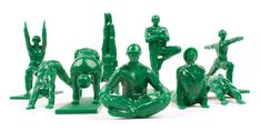Yoga Joes Yoga Joes are here to keep the inner peace. Each set includes 9 Joes in various yoga poses. Get ready to be all that you can be in the yoga army. Weird Gifts, Funny Gifts, Random Gifts, Army Men Toys, Green Army Men, Crow Pose, Cobra Pose, By Any Means Necessary, Kid Poses