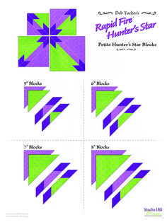 Quilting Rulers, Quilting Tips, Quilting Tutorials, Quilting Designs, Quilt Block Patterns, Star Patterns, Pattern Blocks, Quilt Blocks, Hunters Star Quilt