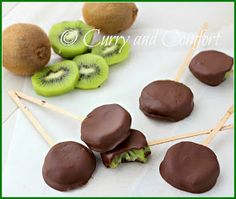 Curry and Comfort: Chocolate Covered Kiwi Pops