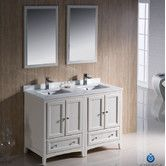 """Found it at Wayfair - Oxford 48"""" Traditional Double Sink Bathroom Vanity Set a bit smaller profile. Comes in brown. $1800"""