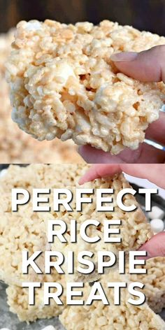 the secret tips and tricks to making the most PERFECT Rice Krispie Treats. K Get the secret tips and tricks to making the most PERFECT Rice Krispie Treats. -Get the secret tips and tricks to making the most PERFECT Rice Krispie Treats. Köstliche Desserts, Delicious Desserts, Dessert Recipes, Yummy Food, Easy Desserts For Kids, Southern Desserts, Quick Dessert, Tasty, Bar Recipes