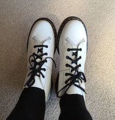 The White Leather Church Boot, shared by fluffypunkfairies.