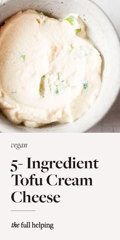 This simple, 5-ingredient tofu cream cheese is one of my favorite homemade vegan staples! It's so easy to make and perfect on bagels or toast. I include four of my favorite flavor additions with the basic recipe. But you can experiment with adding your favorite herbs, spices, fruits, and more. #vegan #dairyfree #glutenfree Vegan Staples, Basic Recipe, Vegan Protein, Bagels, Vegan Lifestyle, Vegan Dishes, Experiment, Vegan Vegetarian
