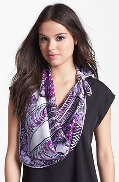 Emilio Pucci 'Deco Fan' Silk Scarf available at #Nordstrom