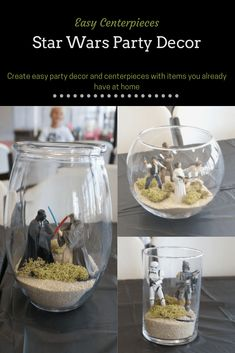 Star Wars Birthday Party Jedi Training Uncategorized % - Star Wars Bday - Ideas of Star Wars Bday - Star Wars Jedi Training Birthday Party Centerpieces simple decor with items you likely already have. Star Wars Jedi, Star Wars Baby, Theme Star Wars, Wedding Star Wars, Jedi Training, Star Wars Party Decorations, Star Wars Birthday Cake, 7th Birthday, Birthday Cakes