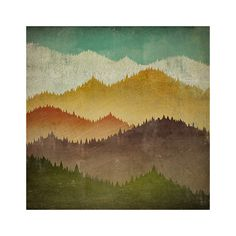 MOUNTAIN VIEW Smoky Mountains  Gallery Wrapped by nativevermont, $195.00
