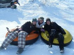 Heading Down the Slopes at the Adult Sledding Party by Features Sports Bar & Grill